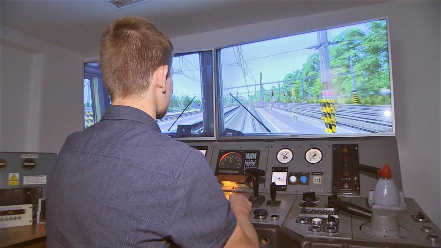 Video Události v regionech: Železniční akademie vychovává strojvůdce