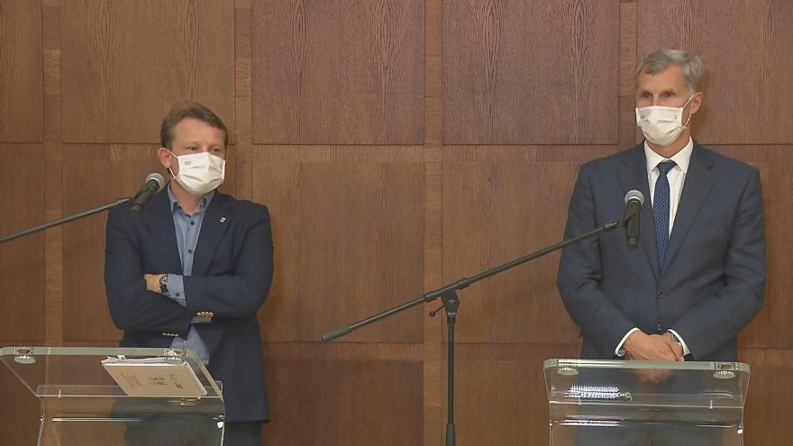Video Tisková konference k letu olympijských sportovců do Tokia