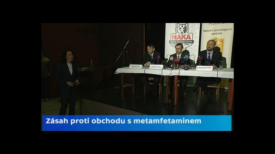 Video Policie o zadržení překupníků s léky k výrobě pervitinu