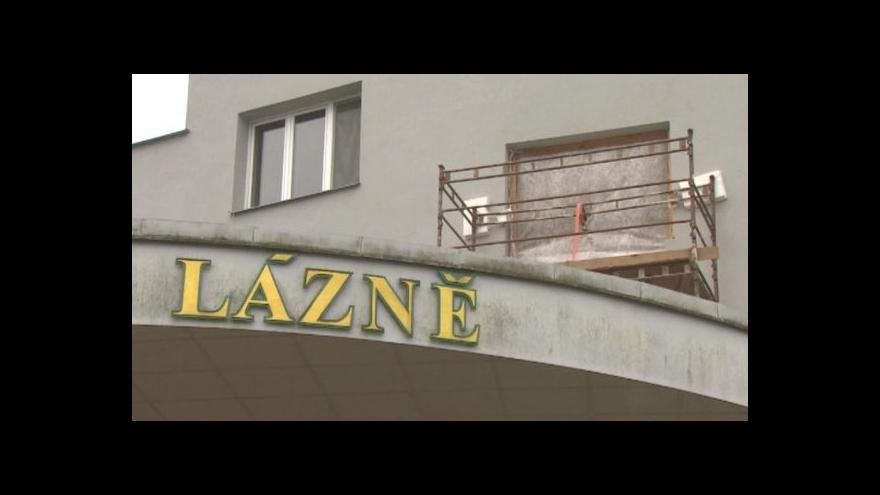 Video Rekonstrukce třeboňských lázní je v plném proudu