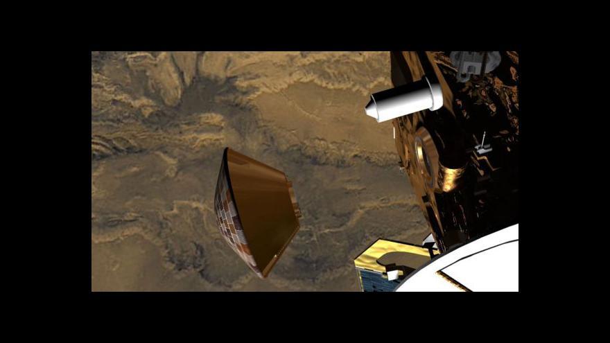 Video Satelit objevil ztracenou sondu Beagle 2
