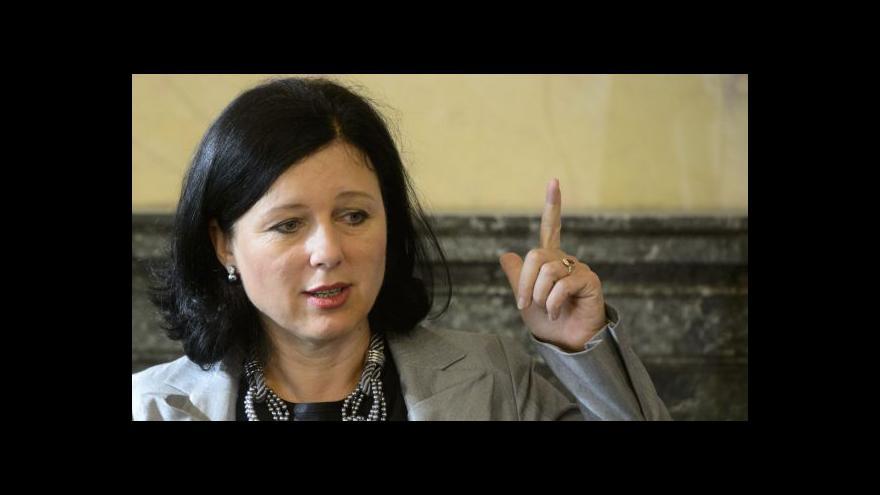 Video Eurokomisařka Jourová o rovných příležitostech