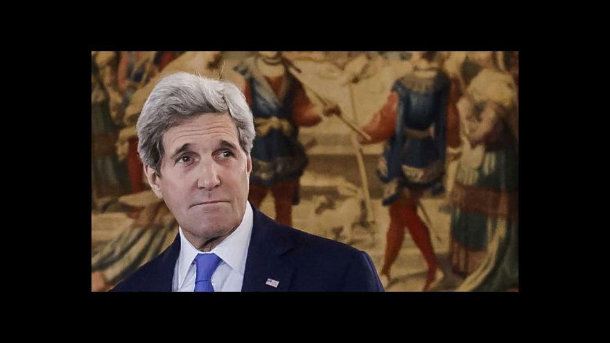 Video Brífink Johna Kerryho k pařížským atentátům
