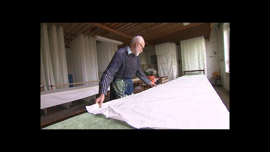 Video O technice modrotisku hovoří tiskař František Joch