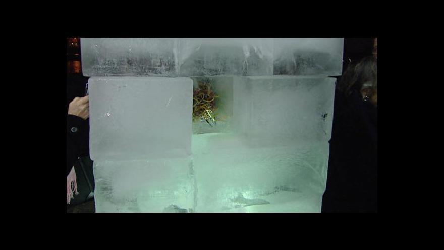 Video Události: Praha uctila Palacha ledovou sochou