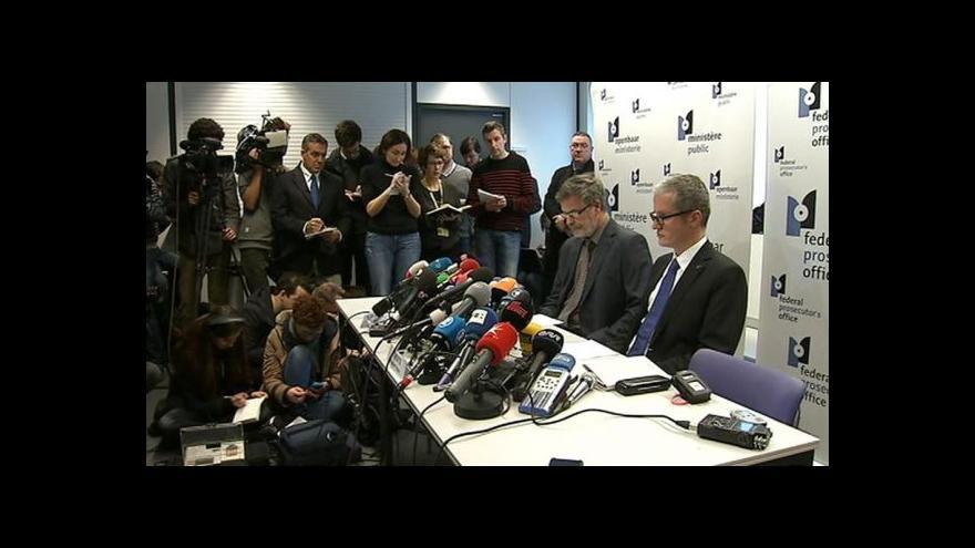 Video Brífink belgické policie k protiteroristické akci