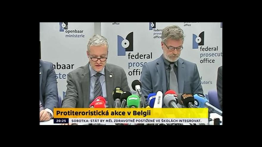 Video Belgická policie k protiteroristickým zásahům