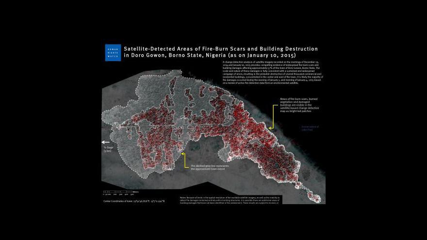 Video Satelitní snímky ukázaly, jak Boko Haram pustoší města