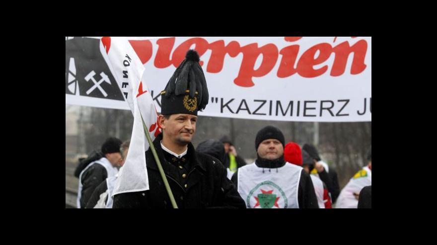 Video Protesty horníků jsou pro polskou vládu vážným problémem