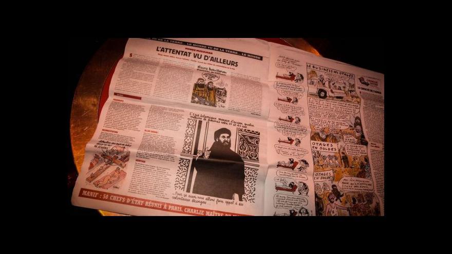 Video Charlie Hebdo během chvilky zmizel z pultů