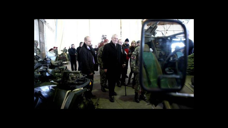 Video Reportáž: Zeman je pro navýšení peněz na armádu