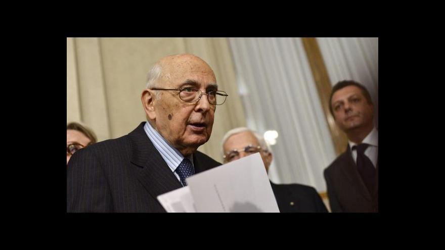 Video Italský novinář: Napolitano byl stabilizační prvek italské politiky