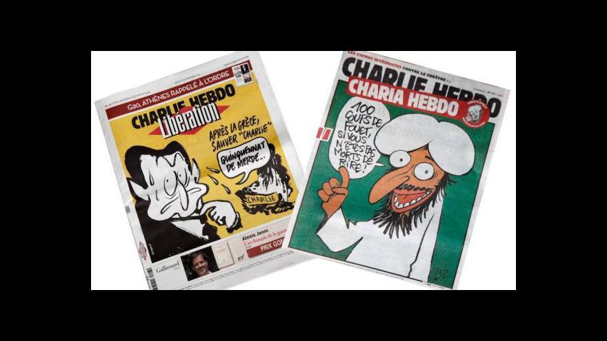 Video Charlie Hebdo vyjde s Mohamedem na obálce
