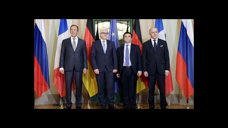Video Diplomaté znovu jednají o vývoji na Ukrajině