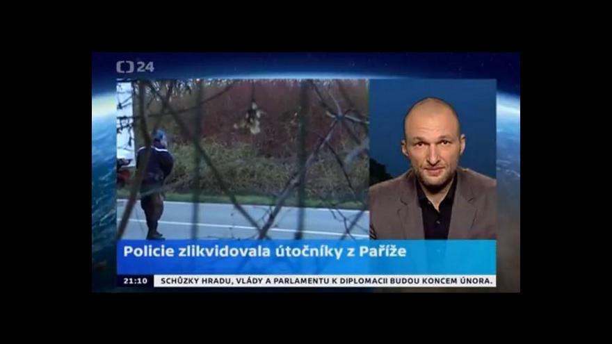 Video Speciál Horizontu ČT24 ke zneškodnění útočníků