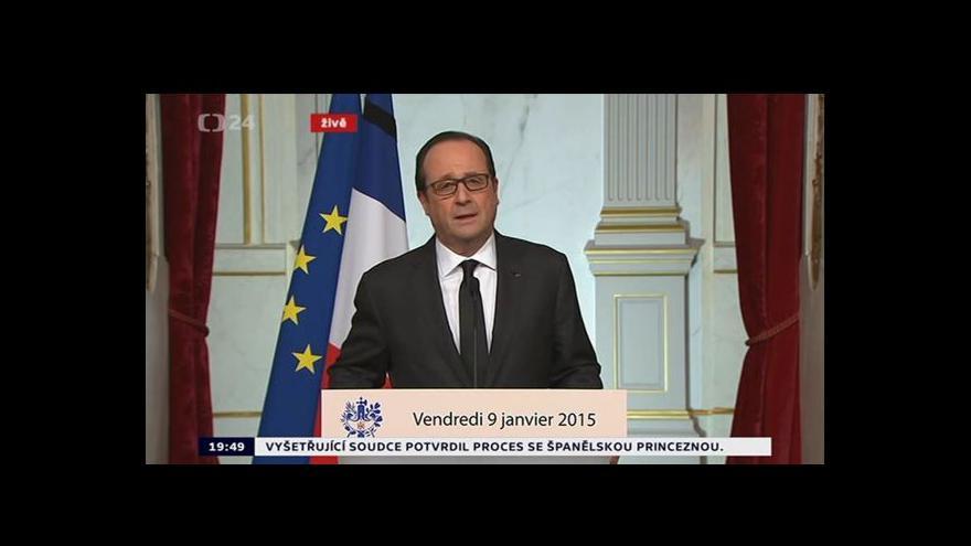 Video Francouzský prezident k zásahům policie