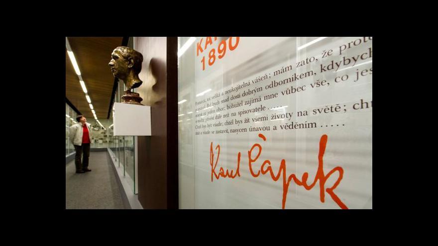 "Video ""Karel Čapek znamenal slušnost, odpovědnost a krásný humor"""
