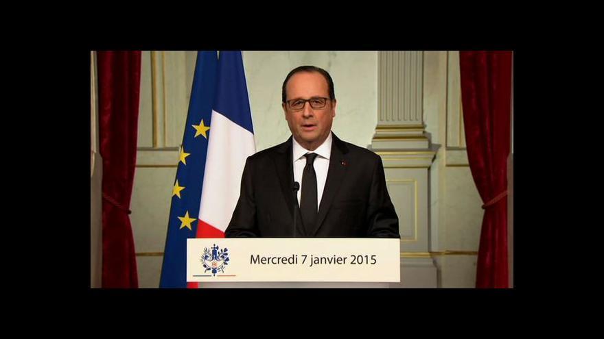 Video Prezident Hollande vyhlásil den smutku
