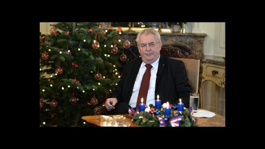 Video Vánoční poselství prezidenta republiky Miloše Zemana