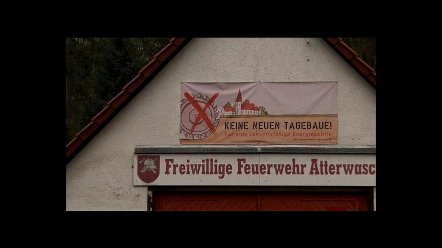 Video Německý odpor k jádru poslal rypadla na tři lužické obce