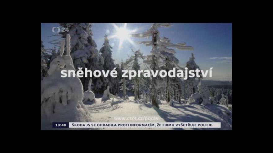 Video Aktuální sněhové zpravodajství
