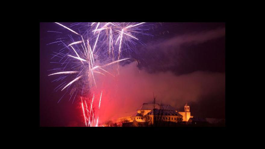 Video Bez komentáře: Brněnský novoroční ohňostroj