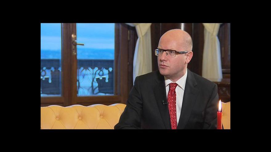 Video Reportáž: Sobotka chválil vládu a kritizoval Zemana