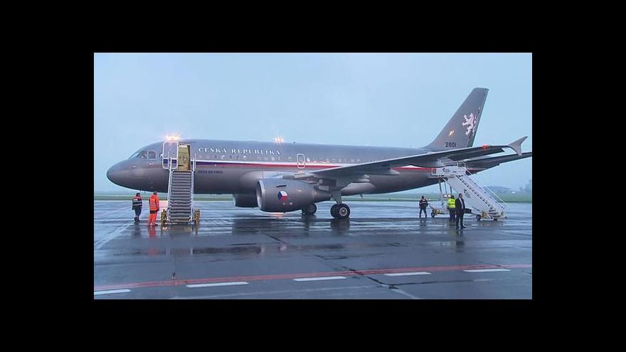 Video Vládní airbus ponese prezidenta do Jordánska i USA