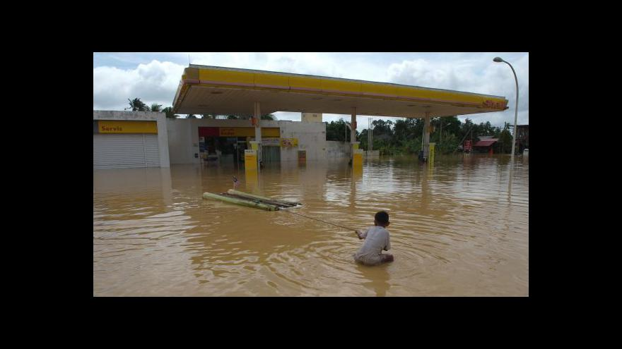 Video Záplavy pustoší Malajsii