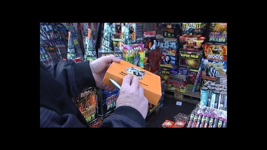 Video ČOI cílí před Silvestrem na prodejce pyrotechniky