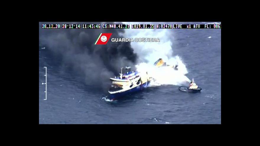 Video Spolupracovnice ČT k požáru trajektu