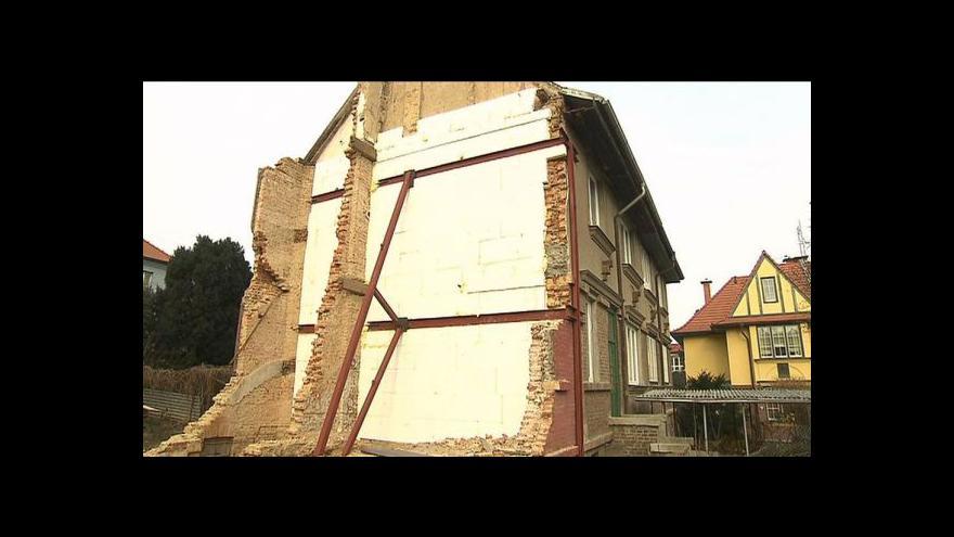 Video Tepelná izolace se objevila jen na části zdi
