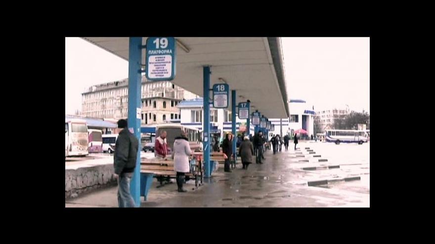 Video Ukrajina omezila železniční spojení s Krymem