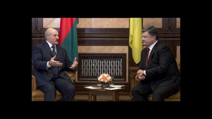 Video Porošenko ocenil Lukašenkovu snahu podpořit nezávislou Ukrajinu
