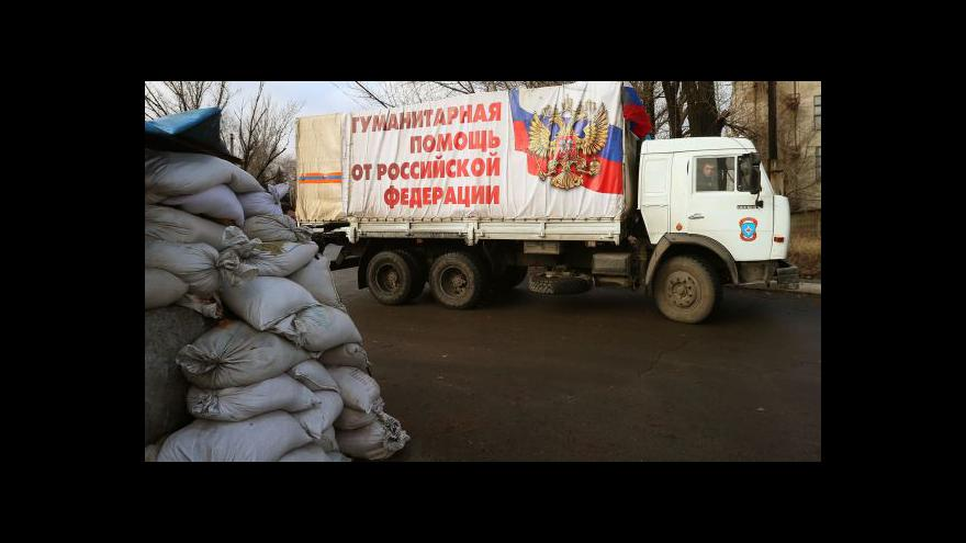 Video Rusko poslalo na Ukrajinu desátý humanitární konvoj