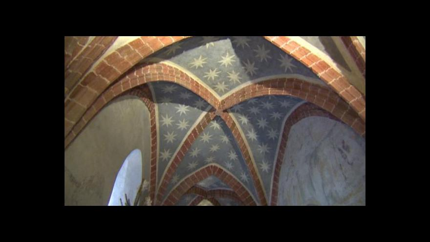 Video Kraj chce zachránit památku s freskami ze 13. století
