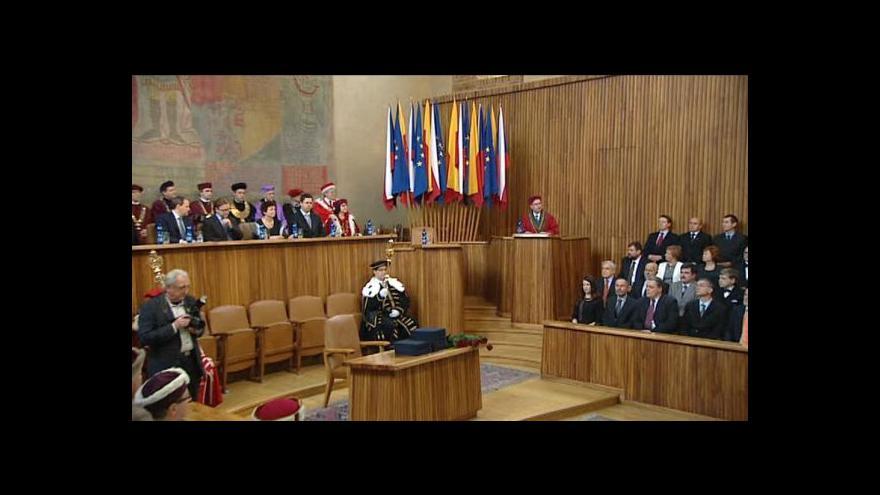 Video Slavnostní  jmenování nových profesorů