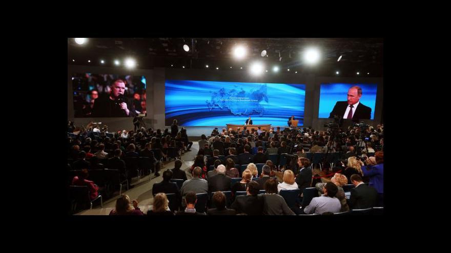 Video Putin o ekonomice, Ukrajině a expanzi NATO