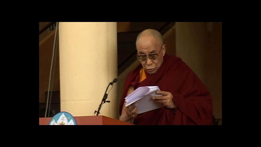 Video Dalajlama zvažuje, že se do nové existence nenarodí