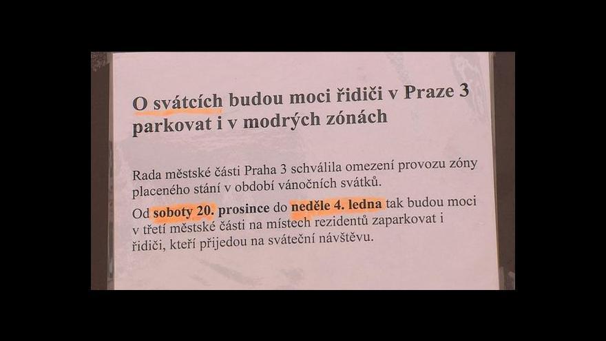 Video Praha 3 a 7 zruší o svátcích modré zóny