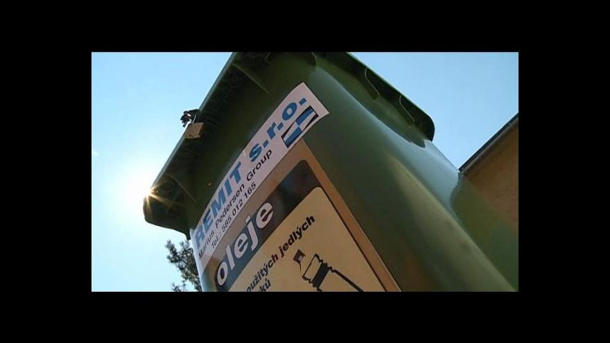 Video Olej do kanalizace ne, pomáhají kontejnery a osvěta