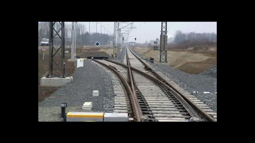 Video Železniční trať na letiště v Mošnově je hotová.