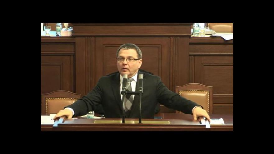 Video Projev Lubomíra Zaorálka ve sněmovně
