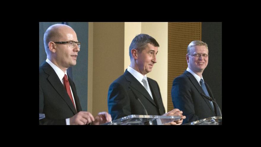 Video Sobotka (ČSSD), Dienstbier (ČSSD) a Stropnický (ANO) po jednání vlády
