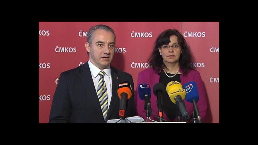 Video Brífink šéfa ČMKOS Středuly a ministryně práce Marksové