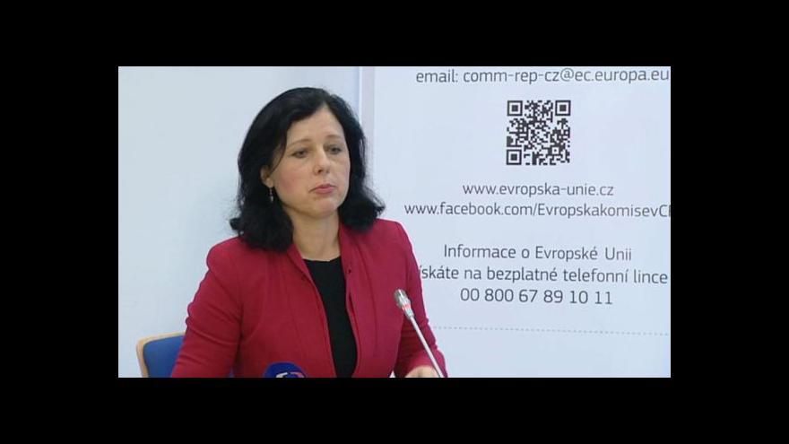 Video TK Věry Jourové: S vládou se sejde každé tři měsíce