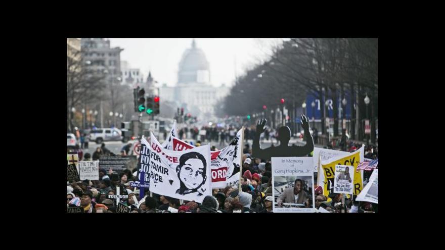 Video Protesty za rasovou spravedlnost zaplnily ulice řady měst
