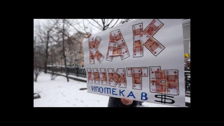 Video Kvůli hypotékám někteří Rusové asi skončí na ulici