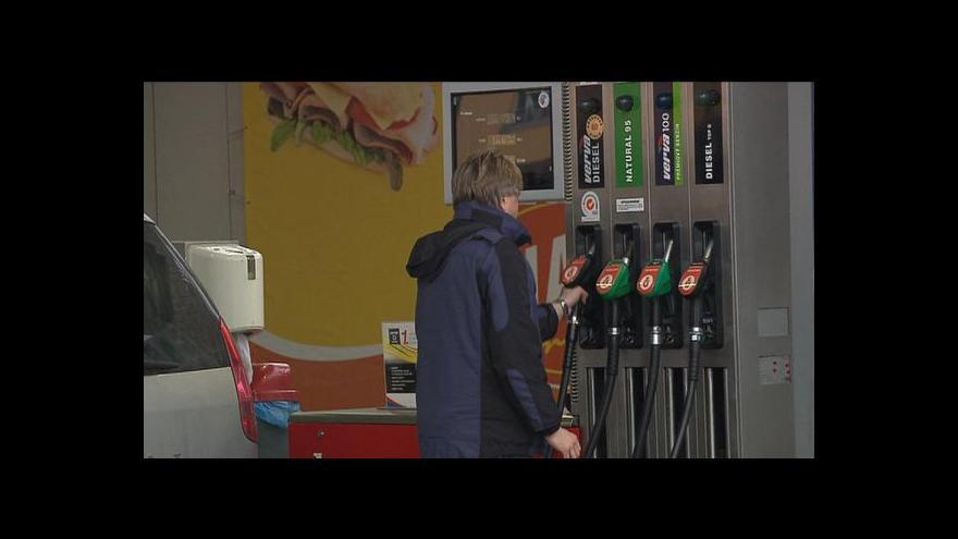 Video Ceny benzinu klesají pod 34 korun za litr
