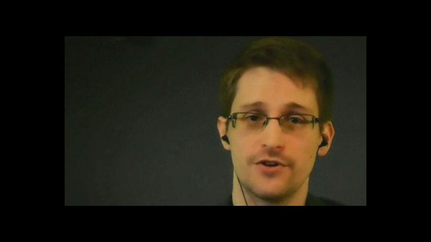 Video Edward Snowden promluvil na konferenci v Paříži